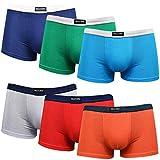 DOUBLE M, Lot 6 Caleçons Coton Garçon, sous-Vêtements Doux, Boxer Assortis Garçons, Disponible pour Enfants de 2 à 12 Ans