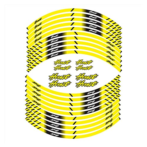 Wfrspavey Etiqueta de la Rueda de la Motocicleta Etiqueta a Prueba de Agua Reflectivos Rim Pegatinas de protección de neumáticos Calcomanías compatibles con Ho*n*da Hornet hnyxs (Color : 180190)