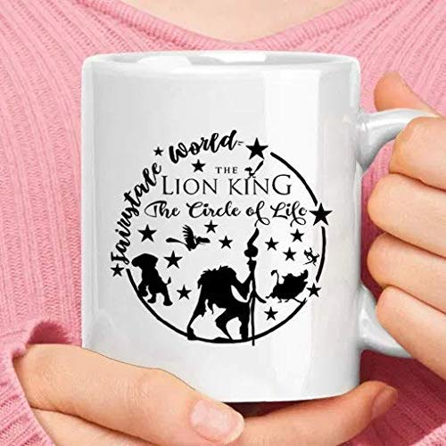 El Rey León El Círculo de la Vida Fairytale World Disney White Mug