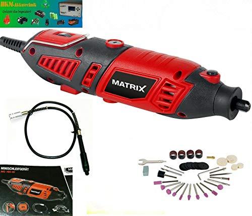 Matrix MG 160-40 160 W multifunctioneel gereedschap (vergelijkbaar met Dremel) met flexibele as