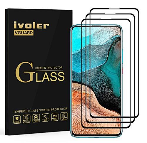 ivoler 3 Stücke Panzerglas Schutzfolie für Xiaomi Poco F2 Pro, [Volle Bedeckung] Panzerglasfolie Folie Hartglas Gehärtetem Glas BildschirmPanzerglas für Xiaomi Poco F2 Pro
