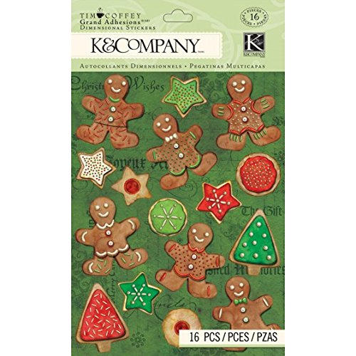 K & Company Grand Vergroeiingen driedimensionale stickers, Tim Coffey Kerstmis