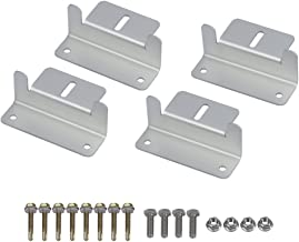 Solar Panel Mounting Z Bracket Mount Supporting for RV, Roof, Boat, Set of 4 Units (1 Sets of Mount Brackets)