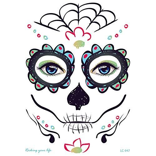ZHONGYU Kit temporal del tatuaje de la cara, día de la mascarada...