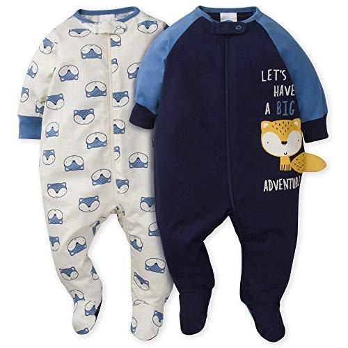Gerber Baby Boys' 2-Pack Sleep 'N Play, awesome fox, 3-6 Months
