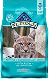 Blue Buffalo Wilderness High Protein Grain Free, Natural Adult Indoor Hairball Control Dry Cat Food,...
