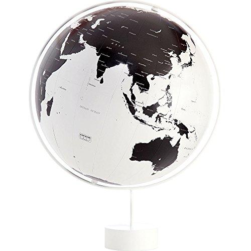 渡辺教具製作所 デザイン地球儀 コロナ W-3602 スチール台 球径26cm 縮尺4,850万分の1