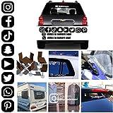 MACOES Pegatinas Personalizadas vinilo Decorativo Redes Sociales Letras Nombres Etiquetas Adhesivas Tumblr Vasos Libro Autos Moto Bicicleta Patinetes Coche casco tabla de snowboard Instagram Facebook