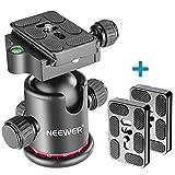 Neewer Testa a Sfera 360° Girevole Panoramica Metallo per Fotografia Universale Piastra a...