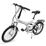 Grupo K-2 Riscko - Bicicleta Plegable Urbana | Cambios Shimano | Bicicleta Plagable con Amortiguador | Modelo bep-34 | Adulto de 20'' Color: Negro