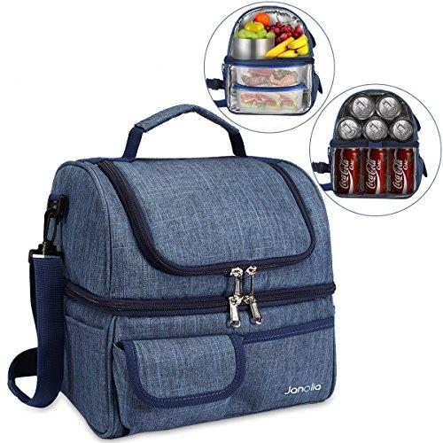 Janolia Kühltasche, Wasserdicht Lunchbox Tasche Picknick-Tasche, mit Isolationszeit bis zu 6 Stunden, Kann maximal 21 Getränkedosen lagern
