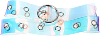 Fashion Colorful Transparent Clear Holographic Waist Belt for Women Girls Jeans Shorts Pants