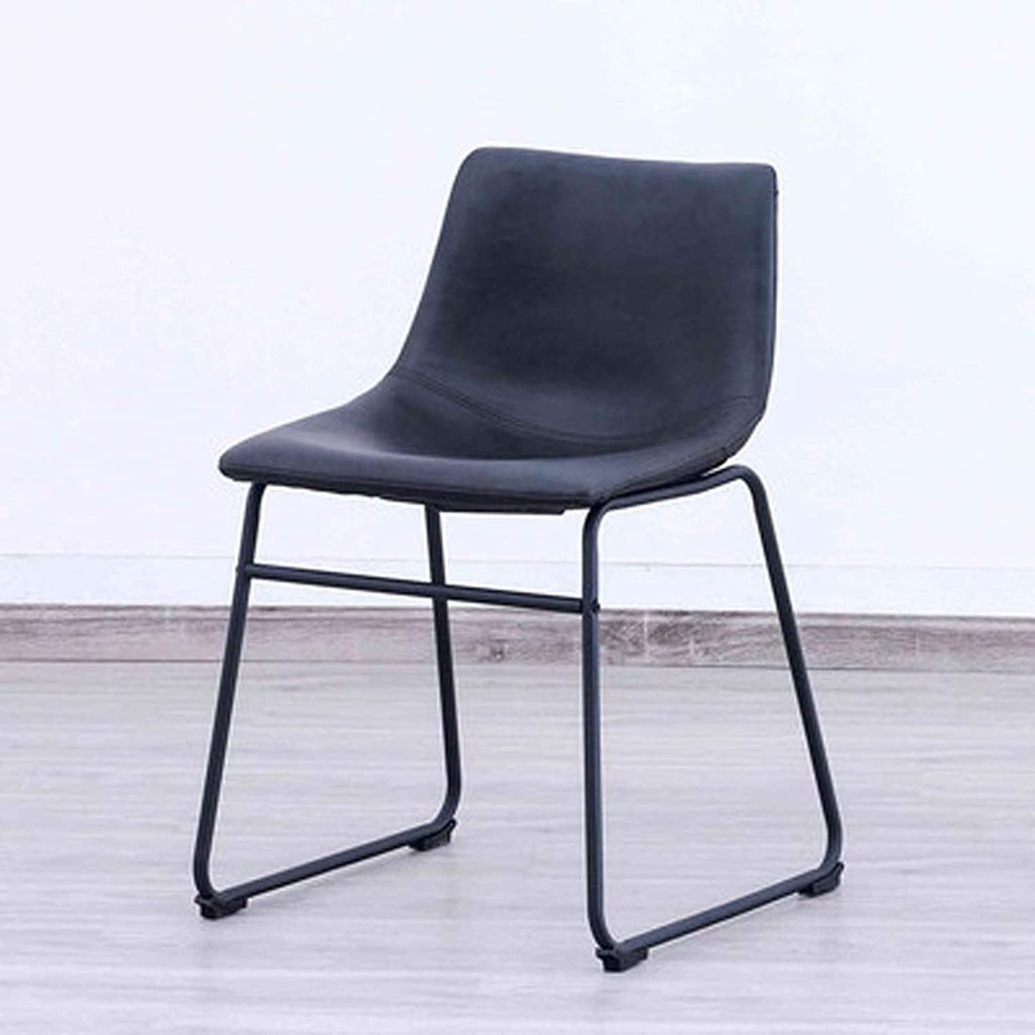 Llsdls Bar Stool, Wrought Iron Home High Stool with Pulley Leather Soft Cushion,SalonChair with Backrest for Kitchen.