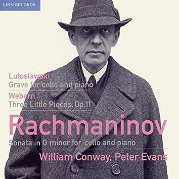 Rachmaninoff, Lutosławski & Webern: Works for Cello & Piano