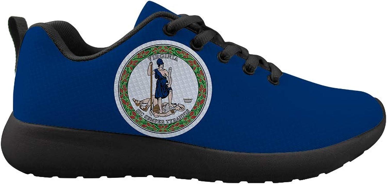 Owaheson Cushioning Sneaker Trail Running shoes Mens Womens Virginia Flag