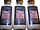 x3 Bath and Body Works Cocktail Dress Shea Plus Vitamin E Body Lotion 8 Ounce Lot of 3