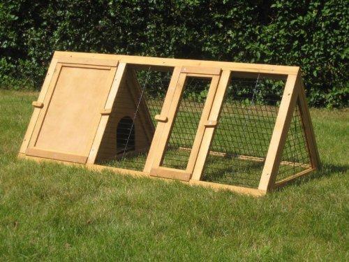 BUNNY BUSINESS Spitzer Laufstall mit Gehäuse, für Kaninchen°/°Meerschweinchen, 1,20°m - 5