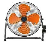 山善 扇風機 45cm 工業扇 床置き式 ロータリースイッチ 風量3段階調節 オレンジ YKY-458