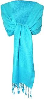 Trachtenland Dirndltuch Stola - Pashmina Halstuch Schultertuch Schal für Damen 185 x 70 cm - Farbauswahl