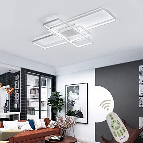 LED Lampara de Techo Salon Moderno Luz de Techo Regulable Con Control...