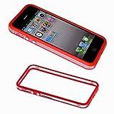 ebestStar - Bumper Compatible con iPhone SE 5S 5 Funda Protectora Bordes Lados Reforzados, Carcasa Anti choques, Transparente/Rojo [Aparato: 123.8 x 58.6 x 7.6mm, 4.0'']