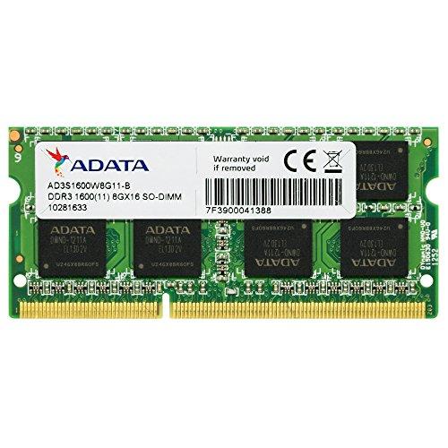 ADATA AD3S1600W8G11-R Arbeitsspeicher 8GB (1600MHz, CL11) DDR3-RAM SO-DIMM