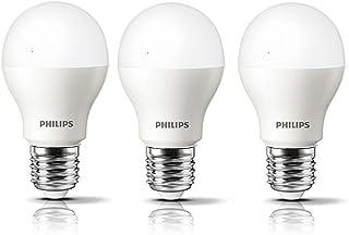 Philips Ace Saver Base E27 9-Watt LED Bulb (Pack of 3, Crystal White)