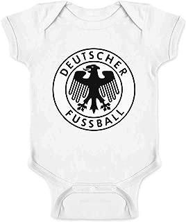 Germany Soccer Retro National Team Crest Costume Infant Baby Boy Girl Bodysuit