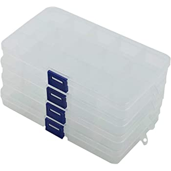ZERONOWA 小物 収納 ボックス アクセサリー収納 パーツケース 小物整理 (透明4個セット)
