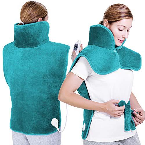 sinnlein Heizkissen, 60x85cm, elektrisch für Rücken Schulter Nacken | Wärmekissen mit 3 Temperaturstufen &...