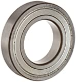 FAG 6215-2ZR-C3 Deep Groove Ball Bearing, Single Row, Double Shielded, Steel Cage, C3 Clearance, Metric, 75mm ID, 130mm OD, 25mm Width, 4800rpm Maximum Rotational Speed, 11000lbf Static Load Capacity, 14900lbf Dynamic Load Capacity