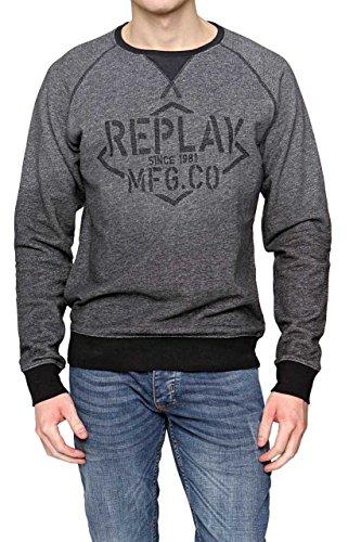 Replay Sweats Sweat-Shirt - Homme, Couleur: Noir, Taille: L