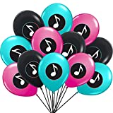 ★Valuable Pack: Package including 12pcs 12in pink balloons, 12pcs 12in blue balloons, 12pcs 12in black balloons ★A Nice Gift:Suitable for Girl's Music Karaoke Themed Party Supplies Very suitable for music theme parties, birthday parties, garden parti...