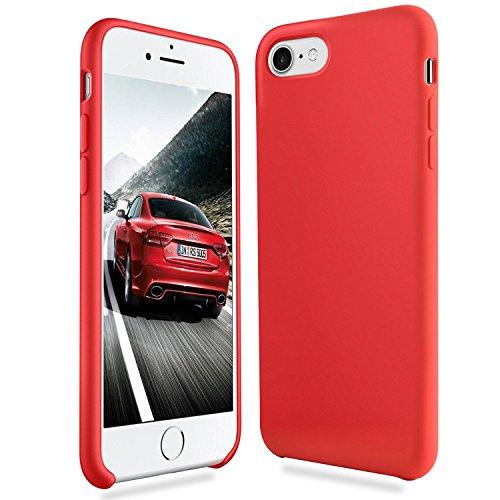 Fuleadture Funda iPhone 8, iPhone 7 Slim Líquido de Silicona Gel Carcasa Alta Calidad Anti-Rasguño y Resistente Huellas Dactilares Totalmente Protectora Caso Cover Case para Apple iPhone 7/8 (4.7')