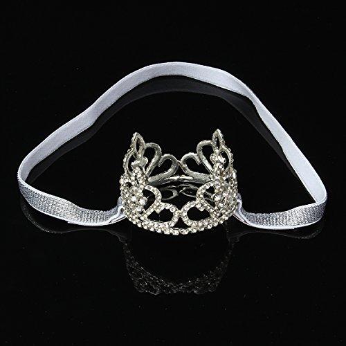 MYAMIA Diadema con Corona De Diamantes De Imitación para Bebés Pequeños,Accesorios para Fotografía De Princesa Tiara para Niñas