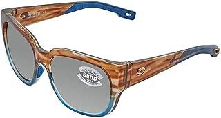 Costa Waterwoman WTW251OGGLP Womens Matte Tortoise Frame Grey Lens Wrap Sunglasses