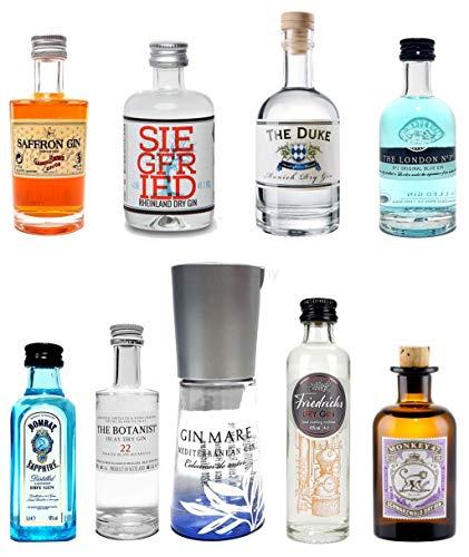 Mixcompany Mini Gin Probierset - 9 Verschiedene Gin Sorten