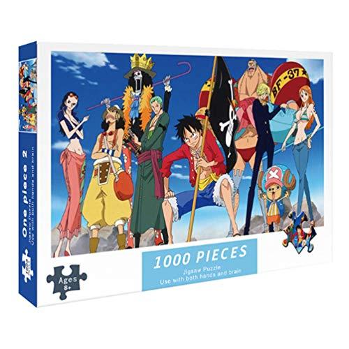 Puzzle De 1000 Piezas para Adultos, Anime One Piece, Ilustraciones De Juegos De Rompecabezas para Adultos, Adolescentes, Rompecabezas De Piso De ImpresióN De Alta DefinicióN (70 X 50 Cm)