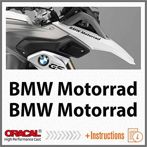 2pcs Motorrad for F650 F700 F800 R1150 R1200 GS LC ADESIVI Pegatina Stickers AUTOCOLLANT AUFKLEBER VINIL Motorcycle (Black)