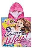 Sudadera con capucha para niños Disney Soy Luna con capucha que dice algo, color in your way !, para niños, niñas, 100% algodón, para la playa, la piscina o el hogar, talla única