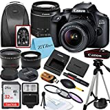 Canon EOS 4000D / Rebel T100 DSLR Camera with EF-S 18-55mm Lens, 32GB SanDisk Memory Card, Tripod, Flash, Backpack and ZeeTech Accessory Bundle