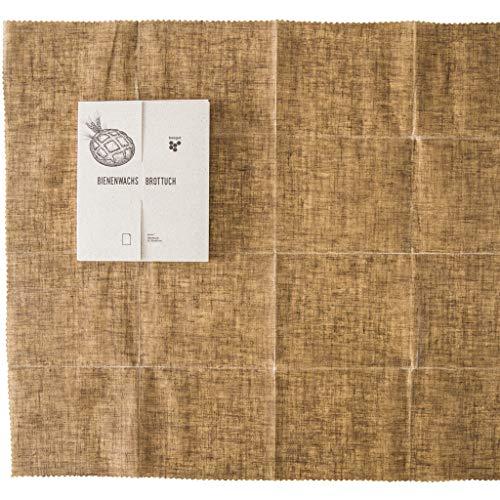 beegut Leinen Bienenwachstuch XXL Brottuch, Brot nachhaltig frisch halten, 50 x 60cm