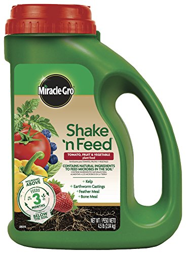 Miracle-Gro Continuous Release Plant Food Plus Calcium Shake 'N Feed Tomato, Fruits and Vegetables Contin, 4.5 lb