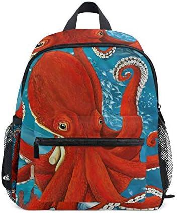 Toprint Kid Backpack Ocean Sea Animal Cute Octopus Shoulder Travel School Bag for Boy Girl Kids product image