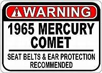 パーソナライズされた駐車場の標識1965年のマーキュリーコメットシートベルト