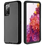 GreatCase for Galaxy S20 FE 5G Case Shockproof Dropproof S20 FE Phone Case Support Wireless Charging Heavy Duty Protective Cell Phone Cover Compatible with Samsung Galaxy S20 FE 5G 2020 Black