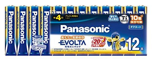 パナソニック エボルタ 単4形アルカリ乾電池 12本パック LR03EJ/12SW