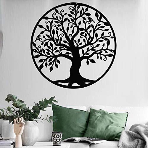 Ced454sy Metall Stammbaum Deko Metall Wandkunst Baum des Lebens Dekoration Metall Wanddeko Stammbaum Schild Wandbehänge Geschenkidee