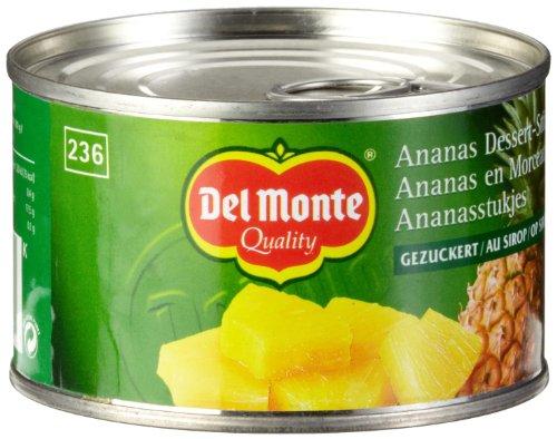 Del Monte Ananas Stücke gezuckert , 6er Pack (6 x 236 ml Dose)