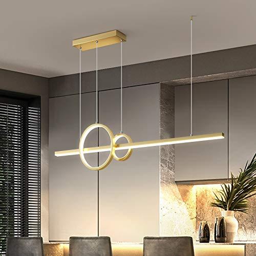 YUQIYU Moderno LED iluminación de la lámpara de suspensión de la luminaria colgante colgantes Lámparas de Iluminación en cocinas de oficina (Emitting Color : Warm white)